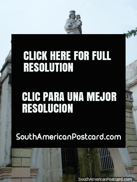 Historic building in La Asuncion - Spes Omnium Carmelitarum Salve, Isla Margarita. (480x640px). Venezuela, South America.