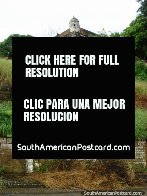 Walking up the road to the castle on the hill in La Asuncion, Isla Margarita. (480x640px). Venezuela, South America.