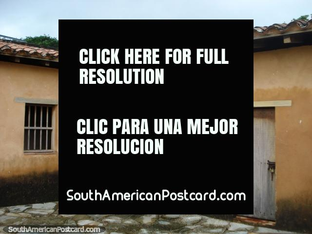 Barred windows and dungeons at castle Santa Rosa, La Asuncion, Isla Margarita. (640x480px). Venezuela, South America.
