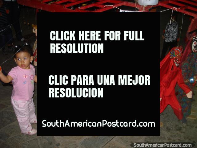 Child size puppets at boulevard Paseo Colon in Puerto La Cruz.  (640x480px). Venezuela, South America.