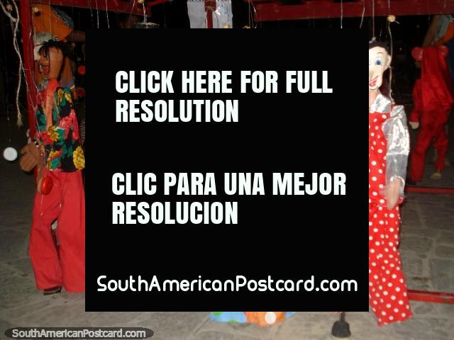 Large puppets can be bought on boulevard Paseo Colon by the sea in Puerto La Cruz. (640x480px). Venezuela, South America.