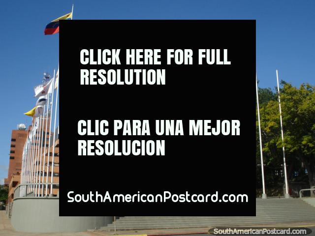 Plaza Las Banderas, plaza of flags in Ciudad Guayana. (640x480px). Venezuela, South America.