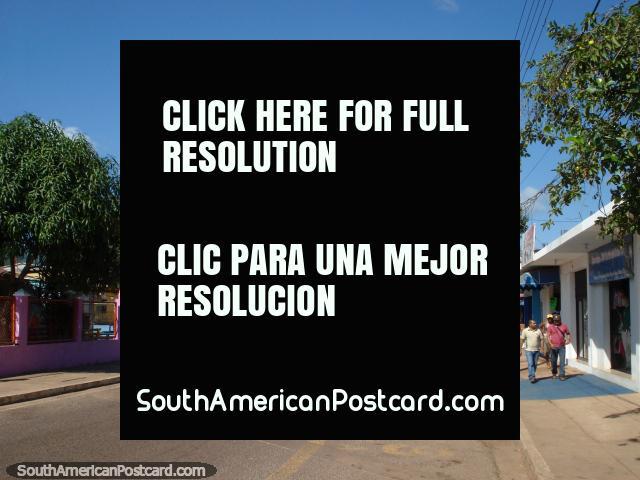The main road in Santa Elena de Uairen, the border town with Brazil. (640x480px). Venezuela, South America.