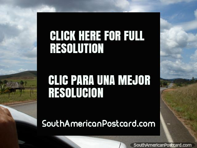 In a co-op taxi driving to the border of Brazil from Santa Elena. (640x480px). Venezuela, South America.