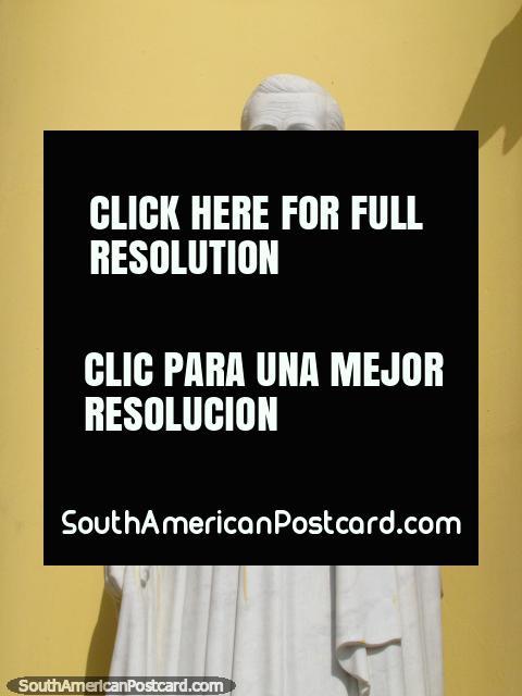 Bishop Arturo Celestino Alvarez statue at Basilica de La Chiquinquira in Maracaibo. (480x640px). Venezuela, South America.