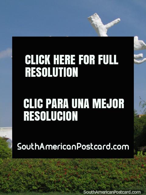 San Sebastian monument, man has arrows sticking out, Maracaibo. (480x640px). Venezuela, South America.