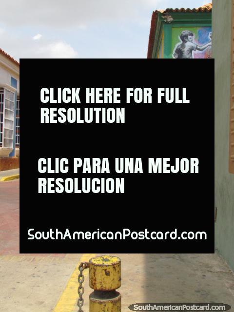 3 businessmen pose for a photo in Carabobo Street in Maracaibo. (480x640px). Venezuela, South America.
