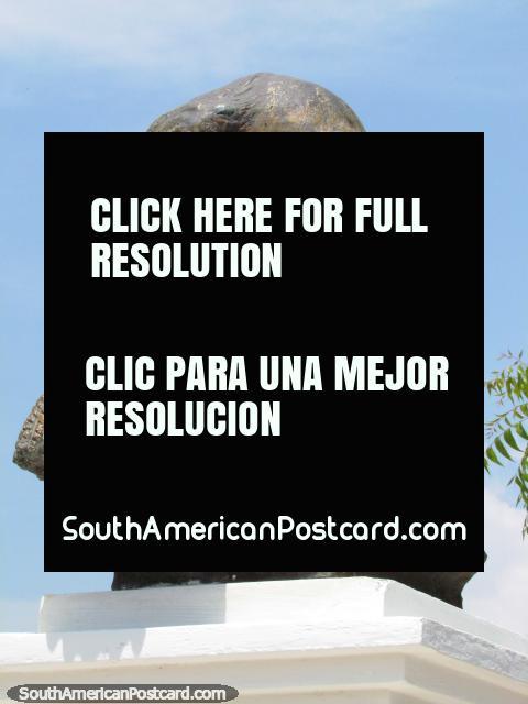 Juan Crisostomo Falcon bust (1820-1870), ex-President, Maracaibo. (480x640px). Venezuela, South America.