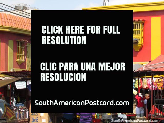 Área del mercado ocupada en centro de la cuidad Maracaibo. (640x480px). Venezuela, Sudamerica.