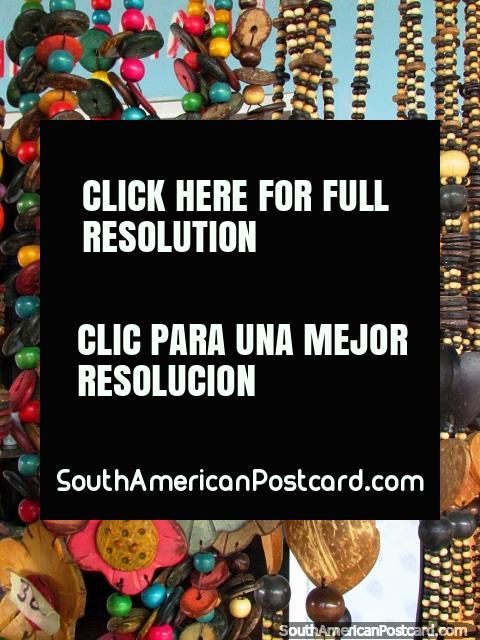 Beads, necklaces, jewelry for sale in El Tintorero. (480x640px). Venezuela, South America.