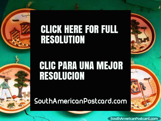 3D platos de Venezuela para la pared, El Tintorero. (640x480px). Venezuela, Sudamerica.