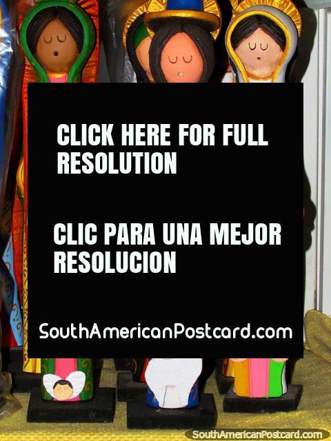 3 religious figures for sale at a shop in El Tintorero. (480x640px). Venezuela, South America.