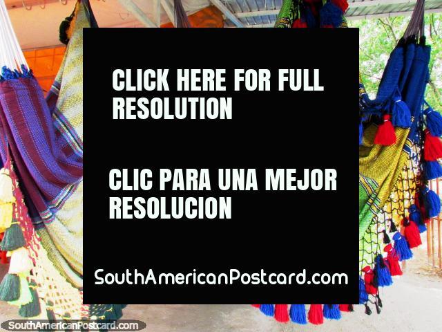 Huge fancy luxury hammocks in El Tintorero. (640x480px). Venezuela, South America.