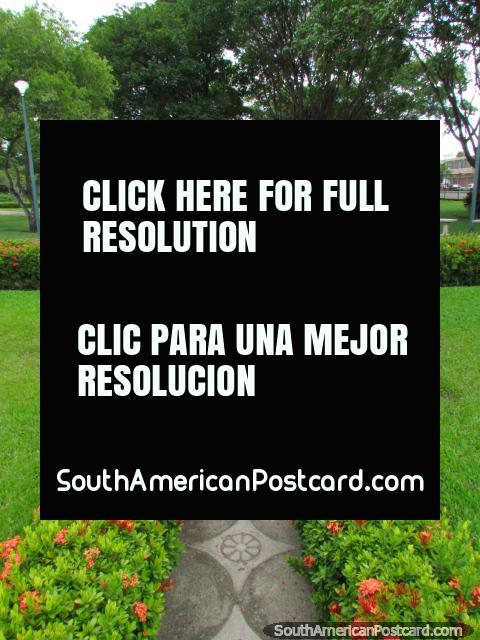 The beautiful botanical gardens in Ciudad Bolivar. (480x640px). Venezuela, South America.