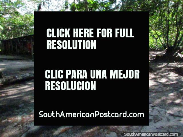 The campsite of Tiuna Tours near the river and Angel Falls. (640x480px). Venezuela, South America.
