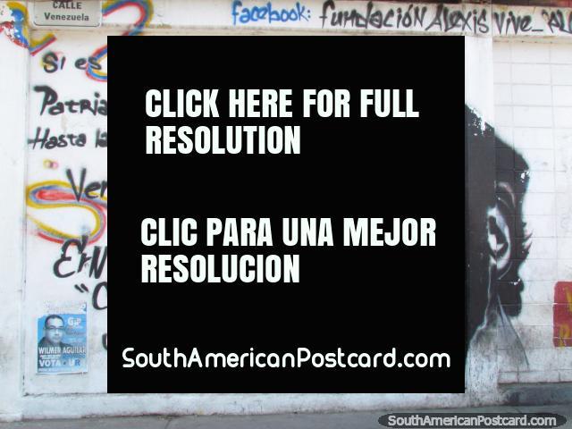 A second mural of Che Guevara in Puerto La Cruz. (640x480px). Venezuela, South America.