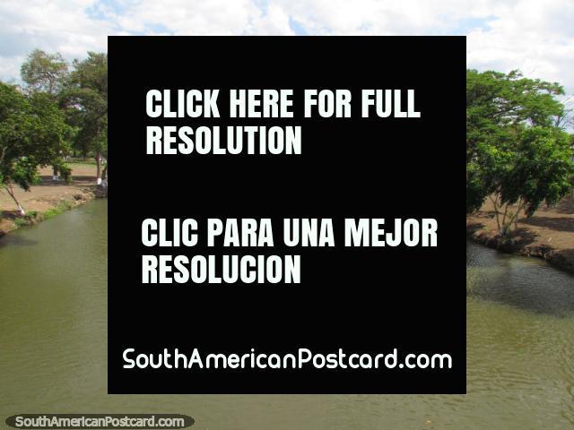 Rio Neveri river view from the bridge in Barcelona. (640x480px). Venezuela, South America.