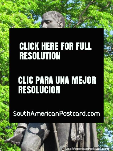 Statue of Brigadier General Jose Antonio Anzoategui (1789-1819) in Barcelona. (480x640px). Venezuela, South America.