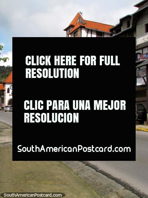 The main street coming into Colonia Tovar. (480x640px). Venezuela, South America.