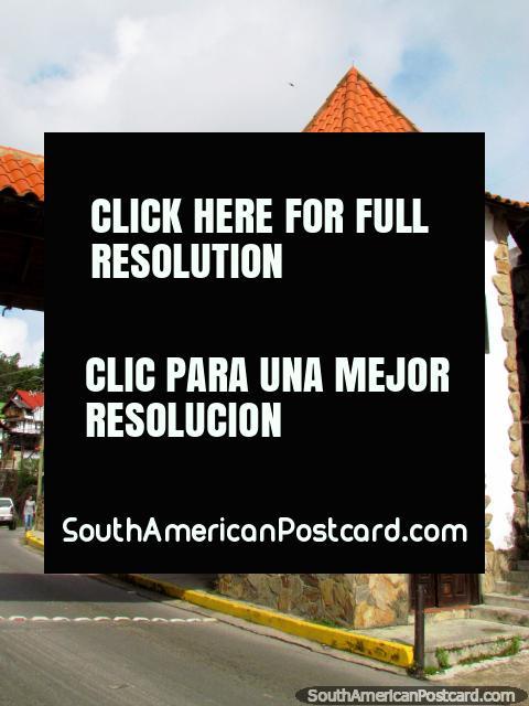 Clock tower local time - Hora Venezolana, Colonia Tovar. (480x640px). Venezuela, South America.
