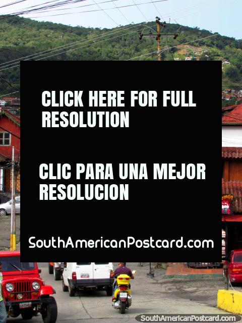 Colonia Tovar main street and thoroughfare. (480x640px). Venezuela, South America.