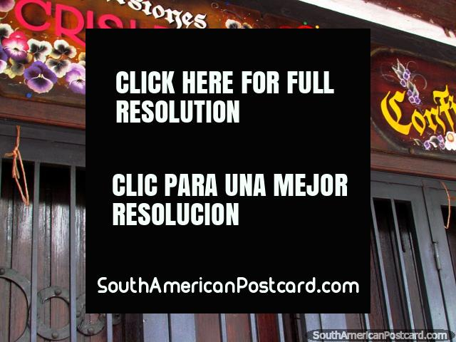 A typical shop sign in Colonia Tovar. (640x480px). Venezuela, South America.
