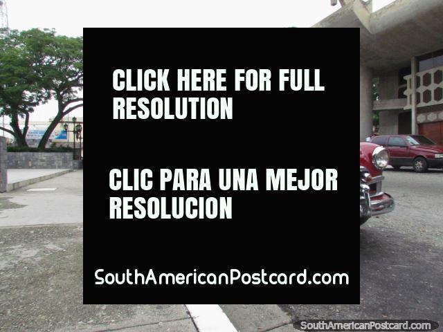 Old classic red car in San Felipe. (640x480px). Venezuela, South America.