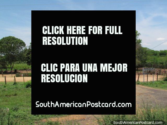 Casa y granja, país que vive del camino entre Maracaibo y Coro. (640x480px). Venezuela, Sudamerica.