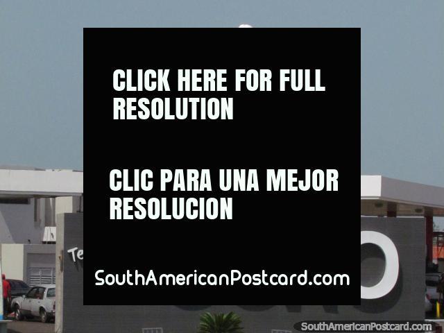 Welcome to Coro, full name Santa Ana de Coro, white Jesus statue. (640x480px). Venezuela, South America.