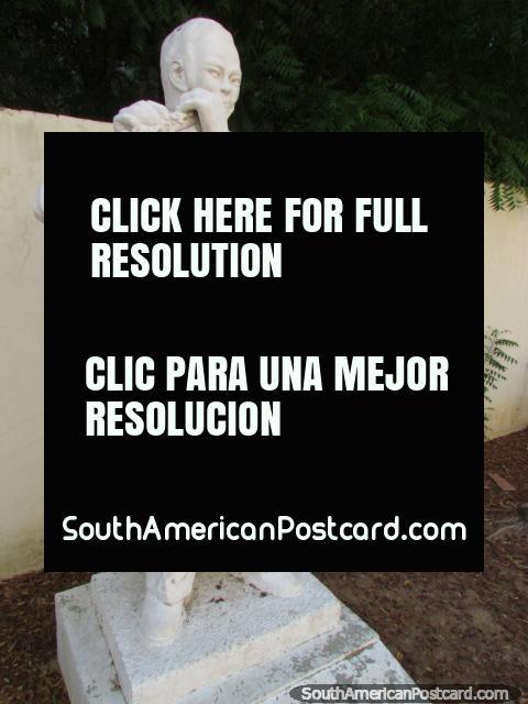 Local musician of Coro - Ciro Elvin Trejo Ruiz (1957-1975), statue playing flute. (480x640px). Venezuela, South America.
