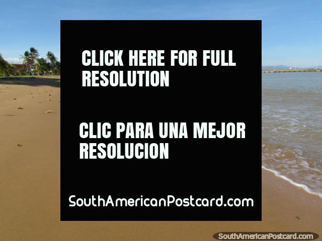 Do leste que olha para o oeste para La Vela de Coro, praia em Coro. (640x480px). Venezuela, América do Sul.