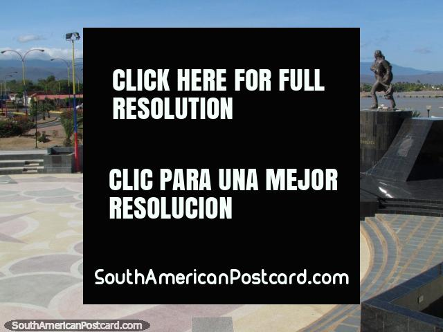 Francisco de Mirando amphitheater, view towards the bay at La Vela de Coro. (640x480px). Venezuela, South America.