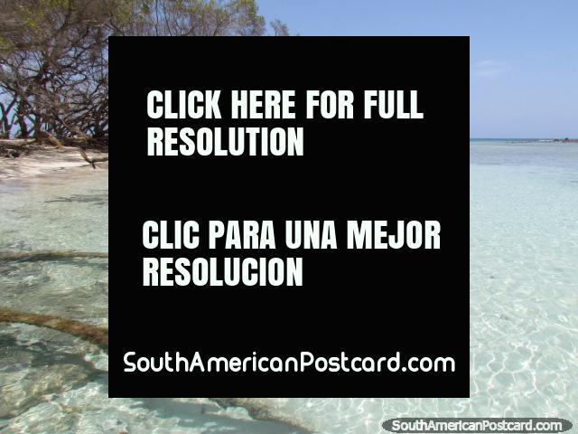 Hermosos paisajes acuáticos alrededor de la isla de Cayo Sombrero, Parque Nacional Morrocoy. (640x480px). Venezuela, Sudamerica.