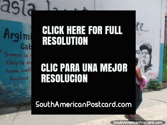 Argimiro Gabaldon and Lavana Cordero wall art in Barquisimeto. (640x480px). Venezuela, South America.