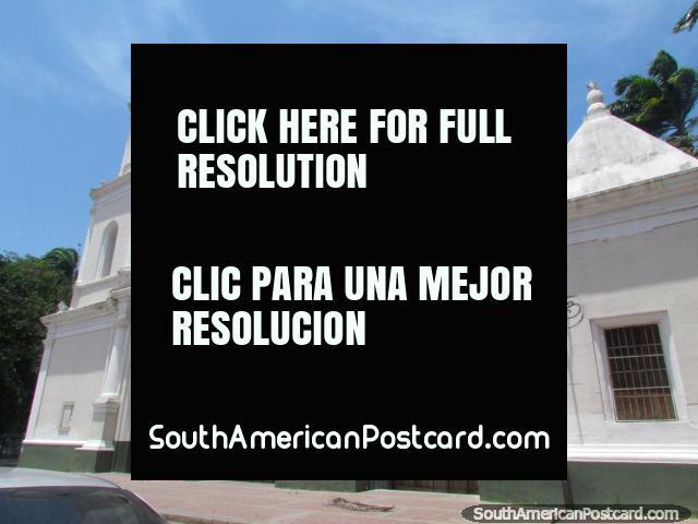 Old white church near Plaza Bolivar in Barquisimeto. (640x480px). Venezuela, South America.