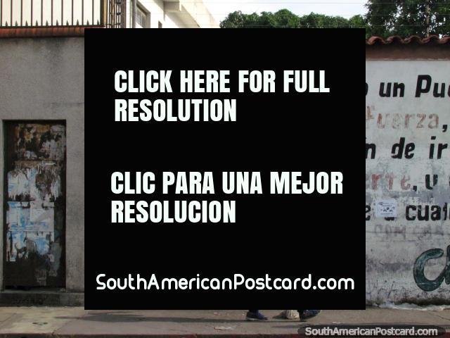 Vieja mural en la pared de Che Guevara en Acarigua. (640x480px). Venezuela, Sudamerica.