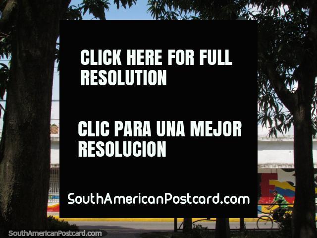 View of the street beside Plaza Bolivar in Barinas. (640x480px). Venezuela, South America.