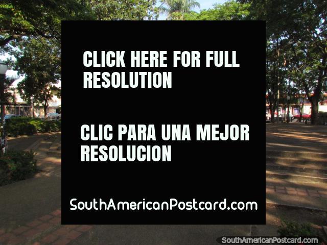 Plaza Zamora with lots of shade in Barinas. (640x480px). Venezuela, South America.