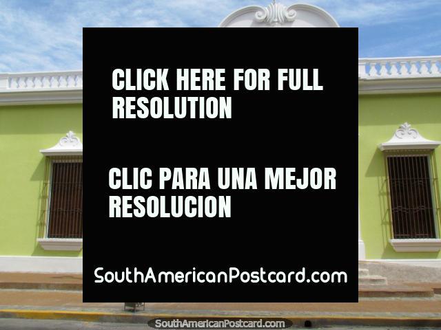 The green palace beside Plaza Bolivar in Barinas - El Palacio del Marques del Pumar. (640x480px). Venezuela, South America.
