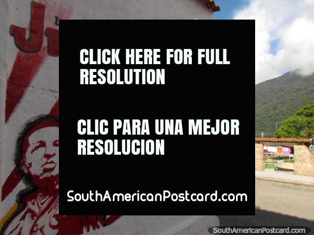 Mural polïtico de Chavez em Santo Domingo. (640x480px). Venezuela, América do Sul.