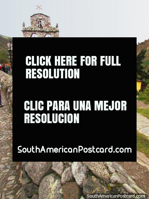 The stone church in San Rafael de Mucuchies is a popular sight. (480x640px). Venezuela, South America.