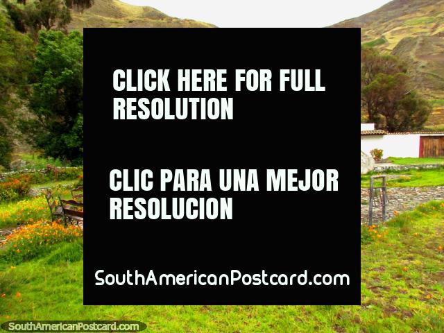 A nice little plaza with homage to Jose Claudio Perez Rivas in Biguznos/Pedregal.  (640x480px). Venezuela, South America.