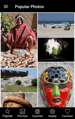 Popular Photos Screen - South America Journey Free App for Android and IOS