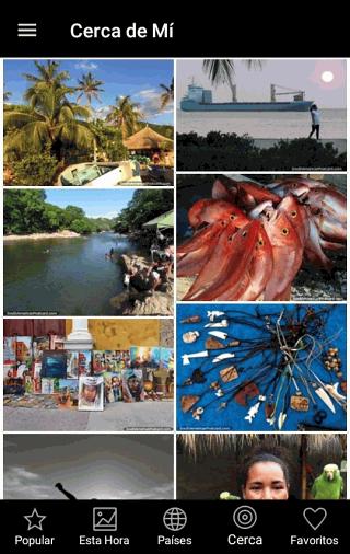 Pantalla de fotos cercanas - Viajes en Sudamérica aplicación gratis para Android y IOS