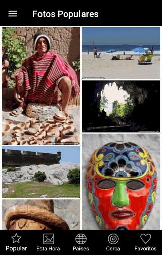 Pantalla de fotos populares - Viajes en Sudamérica aplicación gratis para Android y IOS