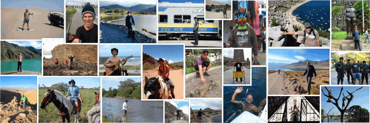 Travel Blog about South America - South American Postcard, photos of me all around South America!